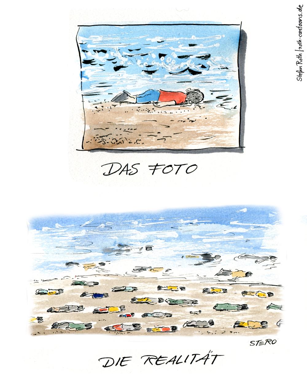 fluechtlingsdrama-ertrunkener-syrischer-junge-Ailan-Kurdi-kueste-tuerkei-stero-cartoon