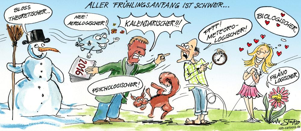 Cartoon Frühlingsanfang