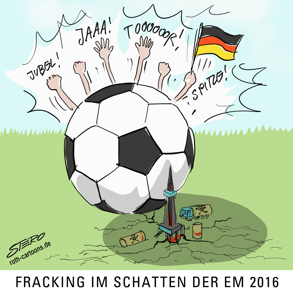 Fracking Und Fussball Cartoons Comic Karikaturen