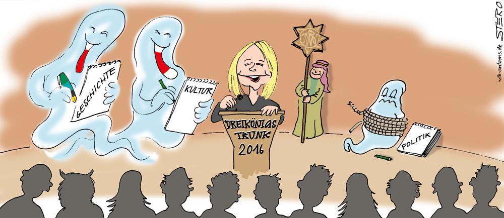 Cartoon: Ghostwriter bei Redner