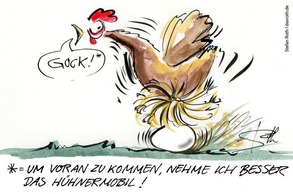Ein Hühnermobil ist eine gute Alternative zur konventionellen Hühnerhaltung