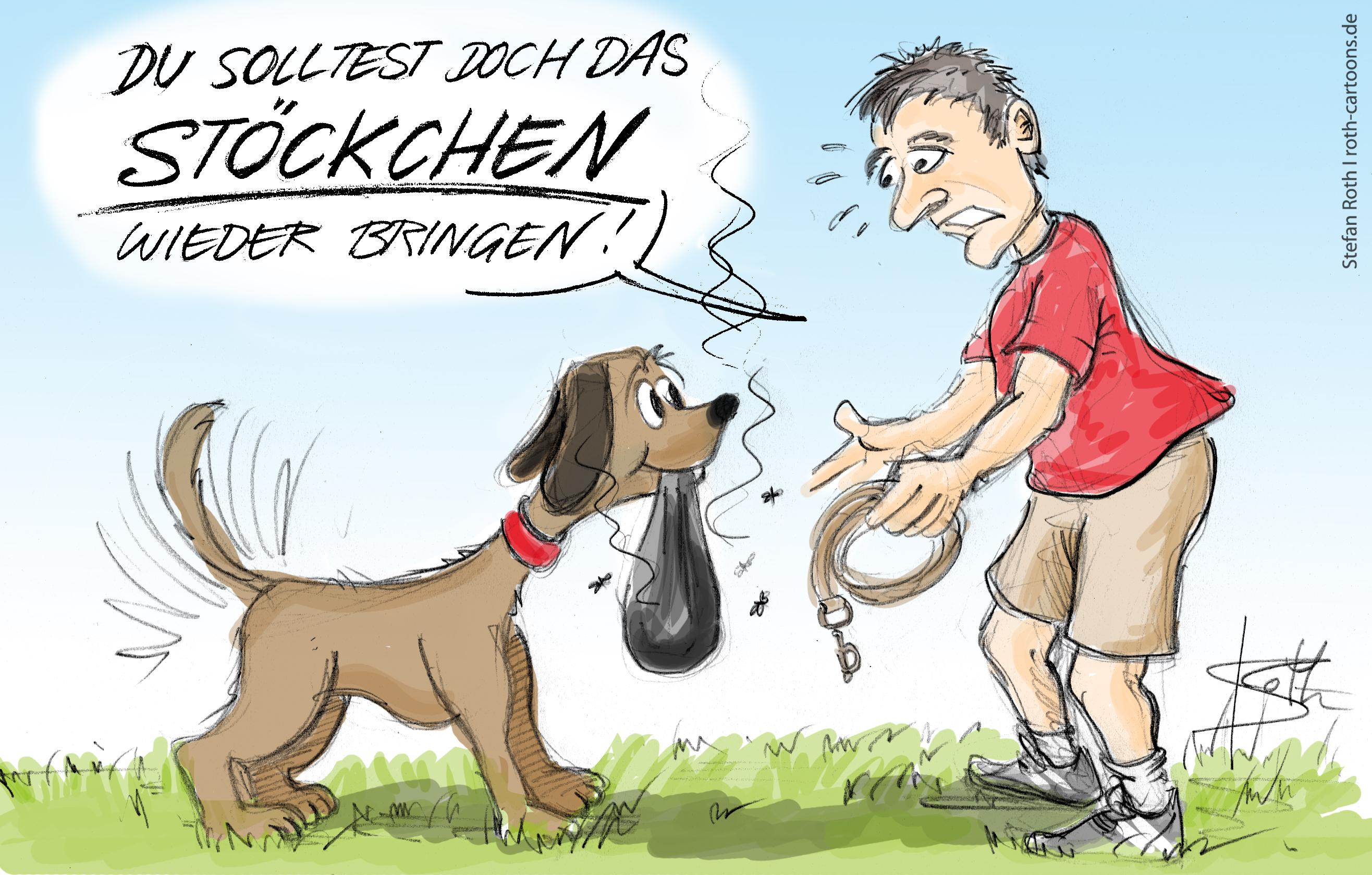 Cartoon Hundekotbeutel