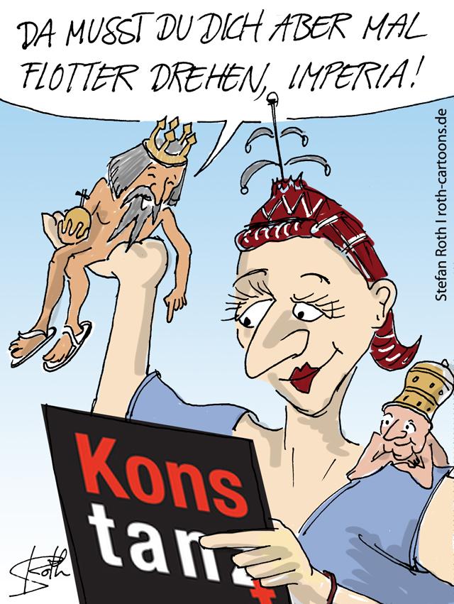 Cartoon - Imperia Konstanz macht bei Konstanz tanzt 2011 mit.