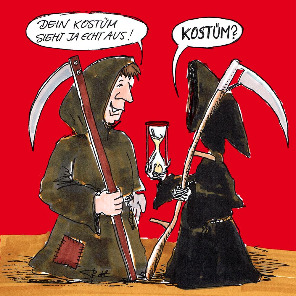 Karneval Fasnacht Und Fasching Der Tod Cartoons Comic