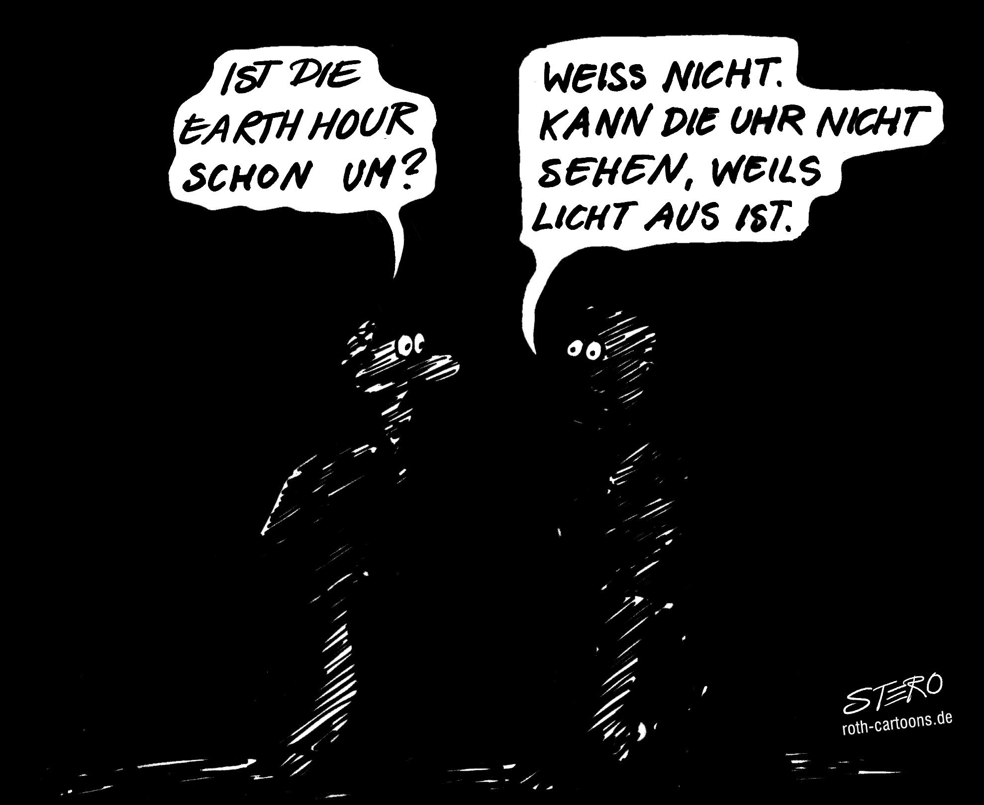 CArtoon Karikatur zur Earth Hour