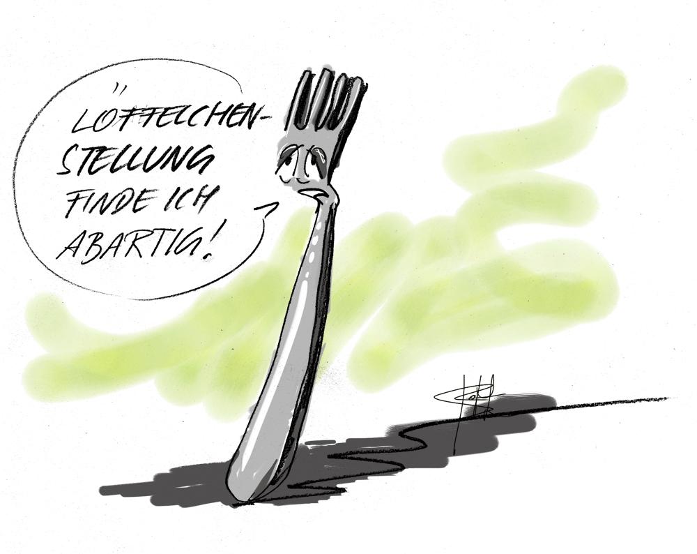 Cartoon zur Löffelchenstellung