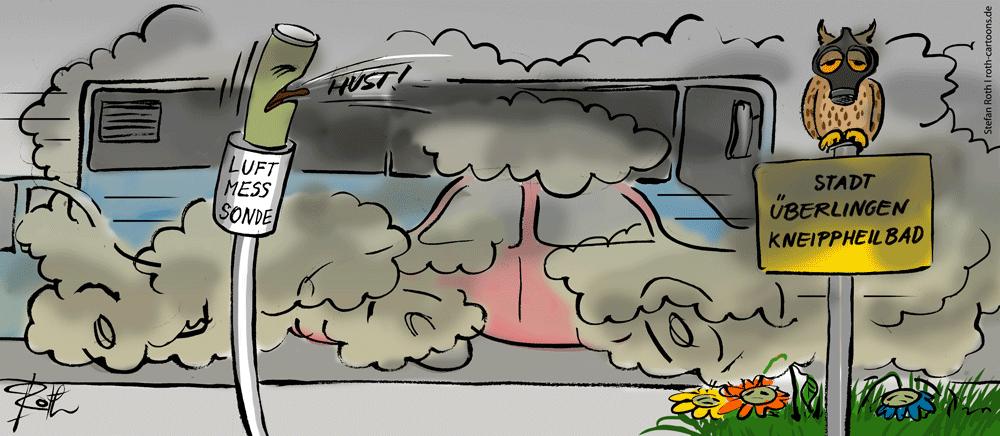Luftmessung bei Smog