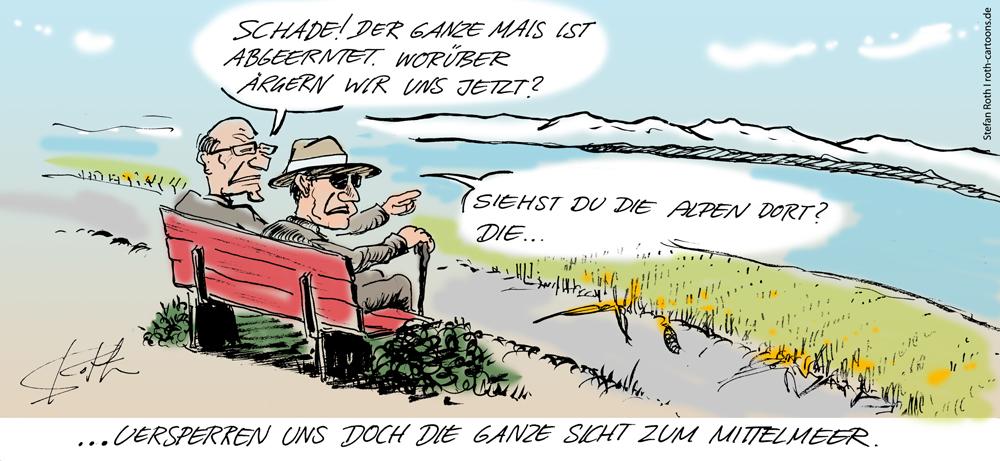 Karikatur Maisfeld contra Seeblick