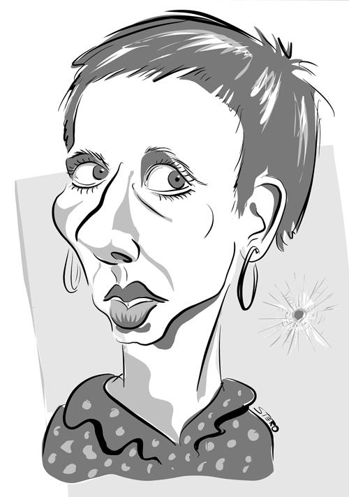 Meret Becker - Portraitkarikatur