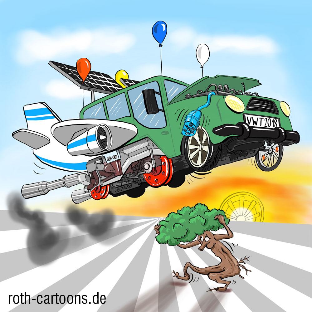 Illustration für die Technische Universität Dresden/Fakiltät Verkehrtswissenschaften