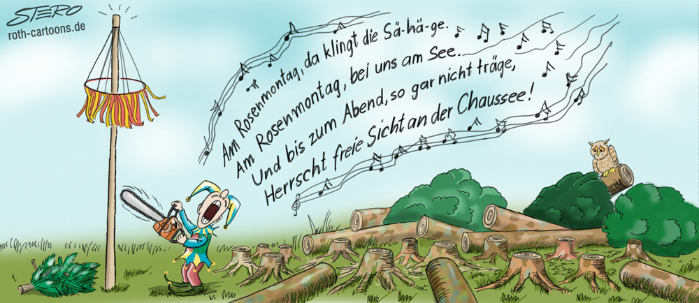 cartoon/karikatur Narrenbaum Überlingen