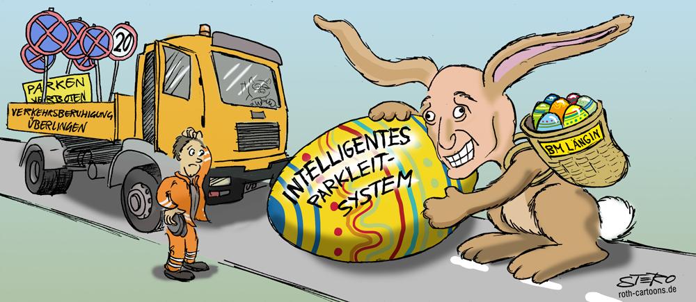 Cartoon zu Verkehrspolitik Überlingen