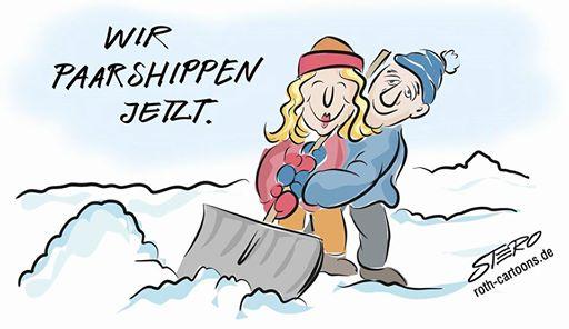 Cartoon zur Partnervermittlung parship