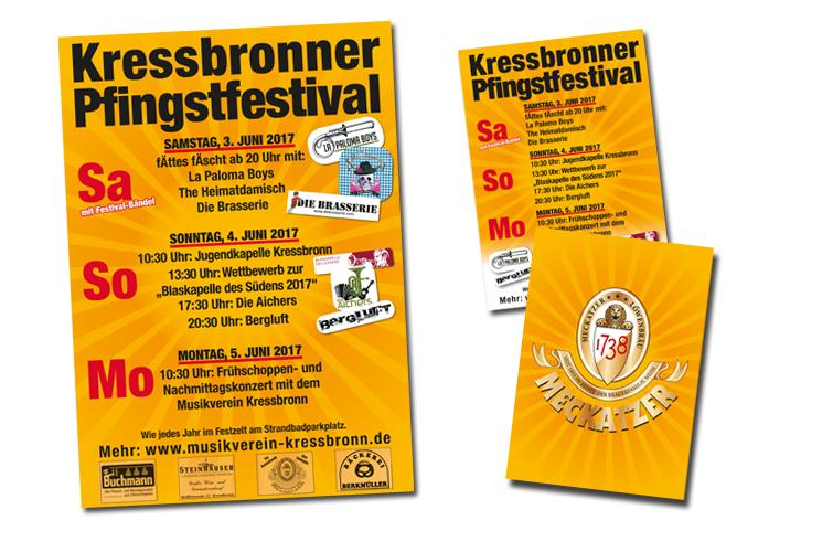 Plakat und Flyer Pfingstfest Kressbronn 2017