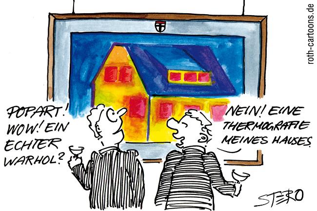 Termografie eines Wohnhauses