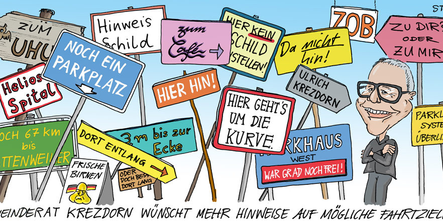 cartoonkarikaturcartoon comic schilderwald in Überlingen