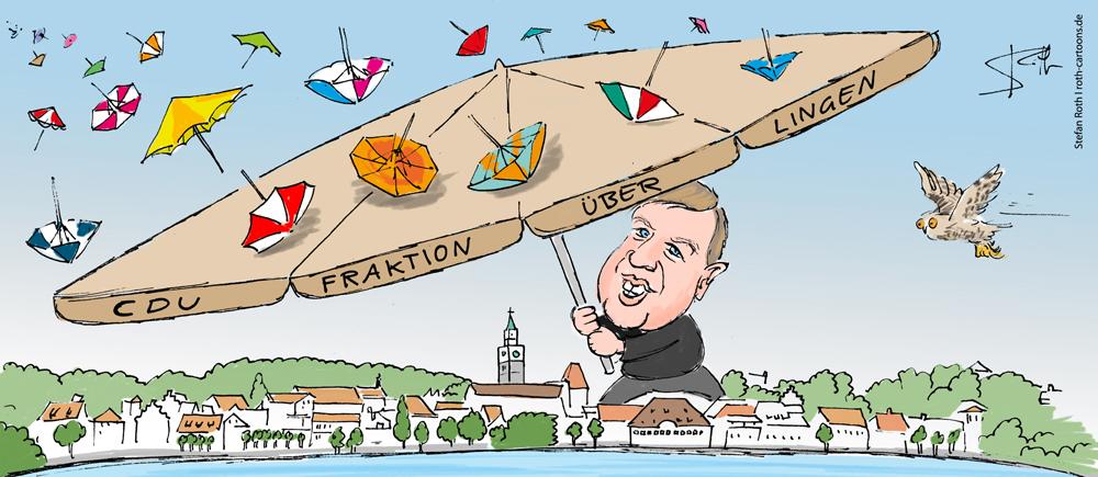 Cartoon Sonnenschirm
