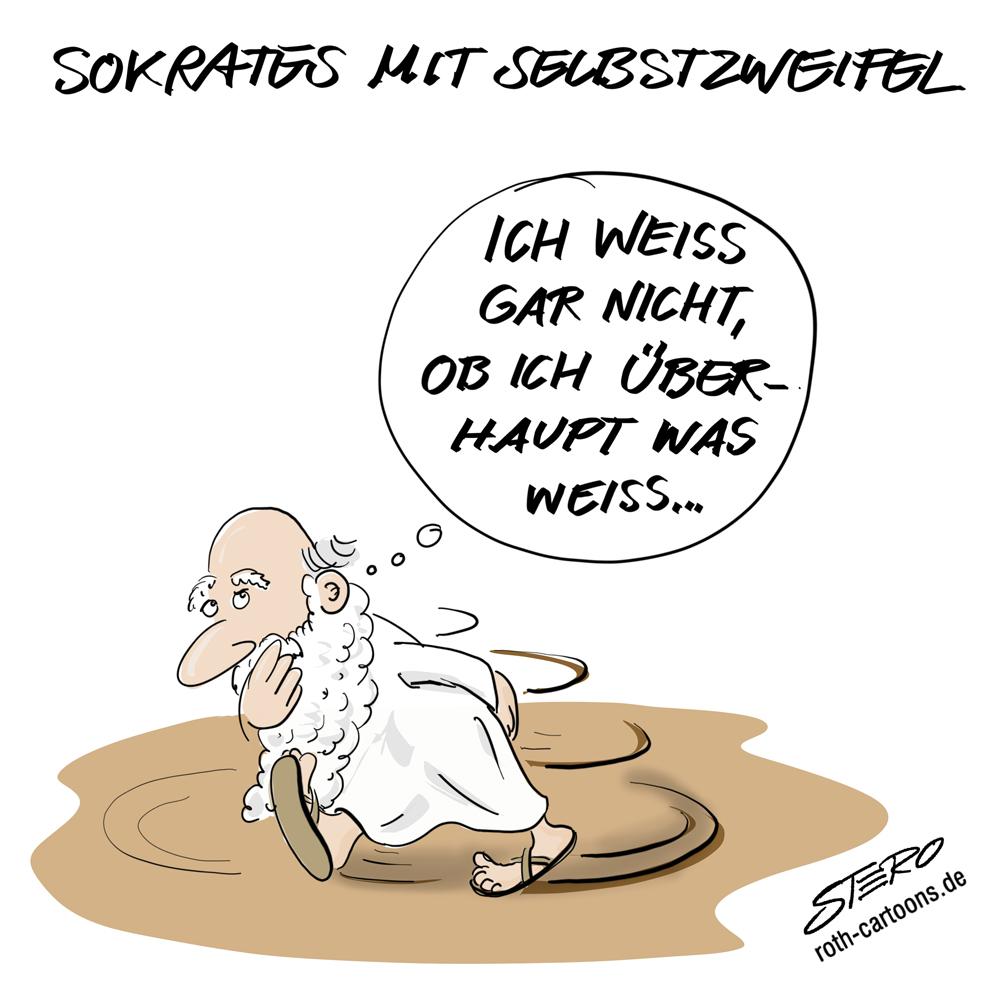 Sokrates ich weiß, dass ich nichts weiß.