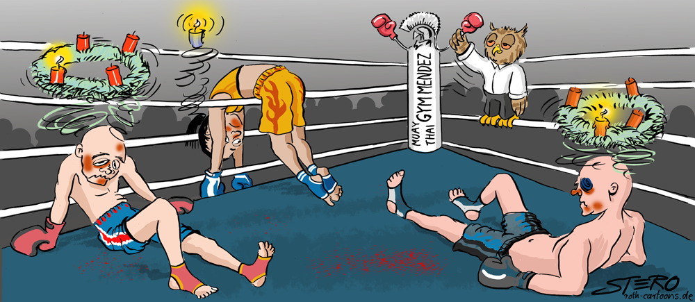Cartoon Thaiboxer ko