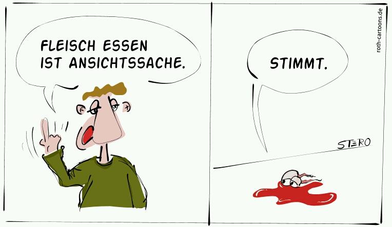 kCartoon Kuhaugen in Blutlache
