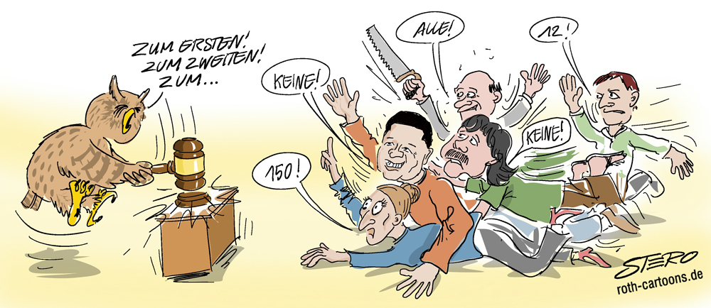 Cartoon: Auktion/Versteigerung