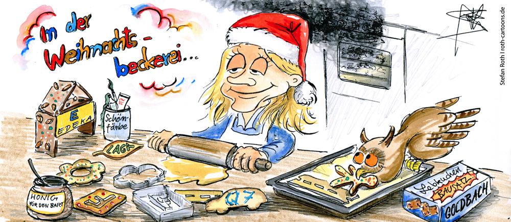 In der Weihnachtsbäckerei, gibt es manche Leckerei ...