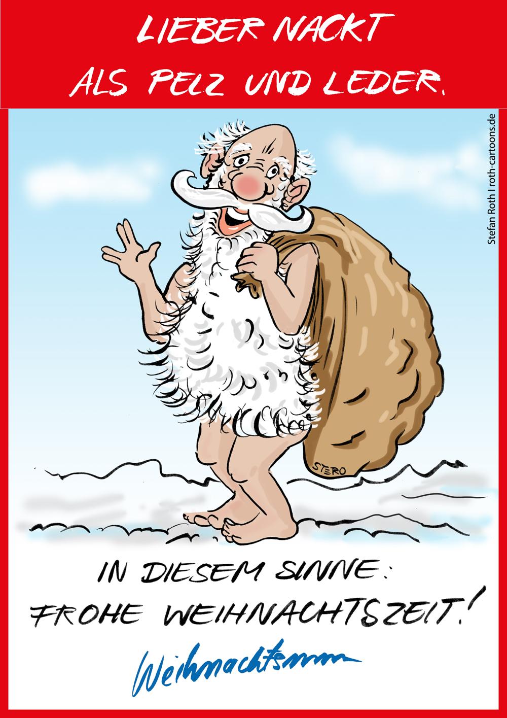 Weihnachtsmann nackt