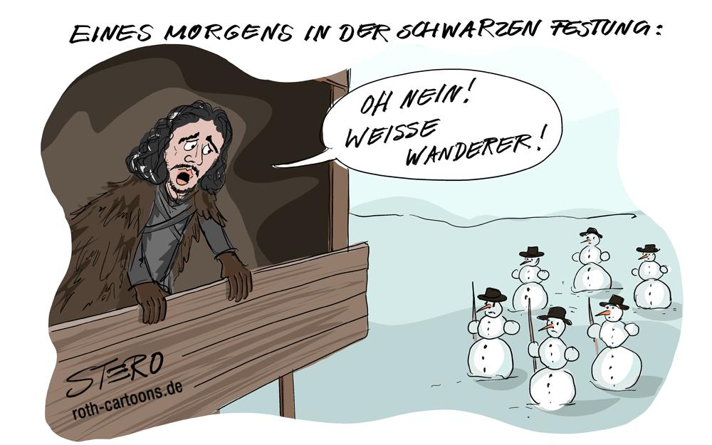 Cartoon zu Game of thrones