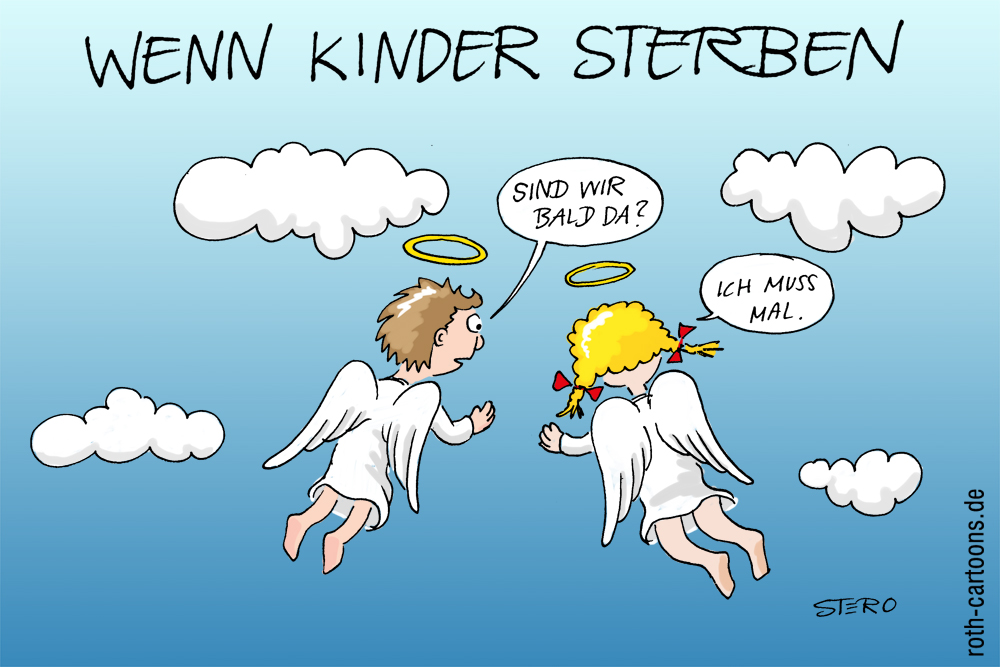 Cartoon zu Kindstod