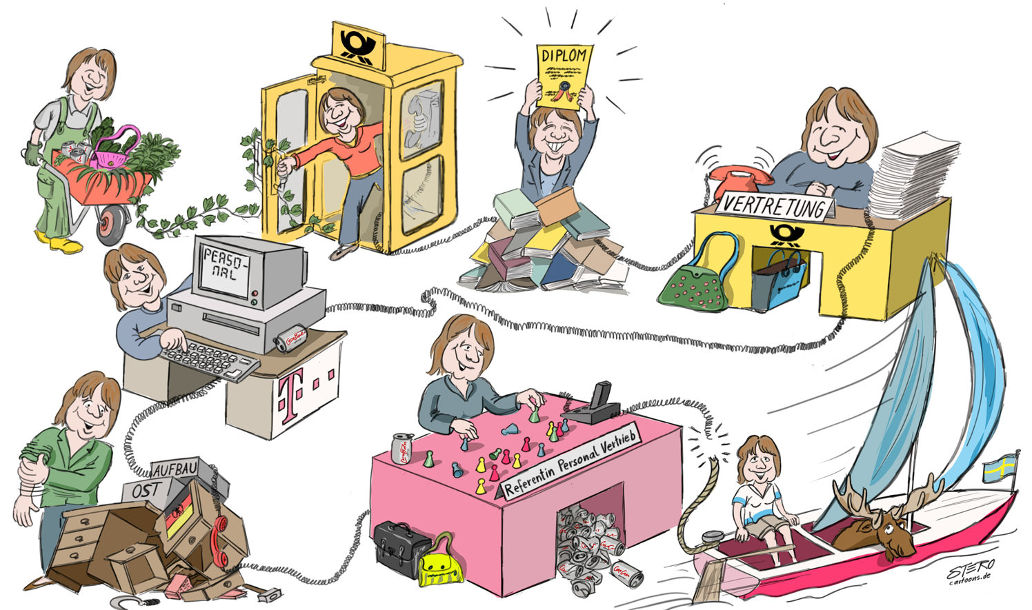 CArtoon-Comic-berufliche Laufbahn-Wimmelbild