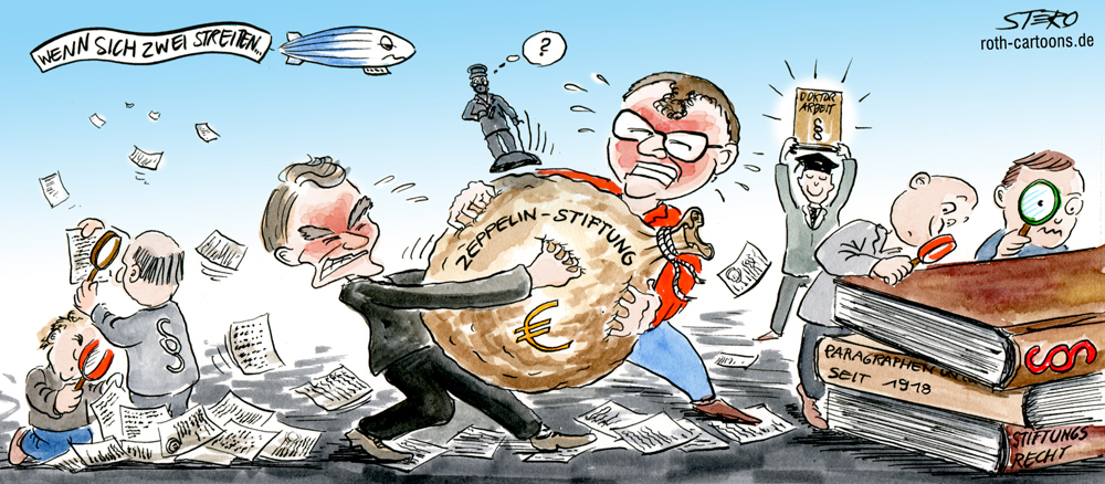 Cartoon-Zeppelinstiftung