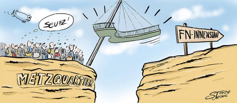 cartoonkarikaturhängepartie hängebrücke  rothcartoons de