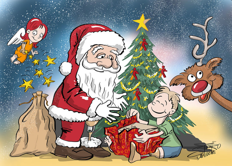 cartoonkarikaturweihnachtskarte für bmab  rothcartoons
