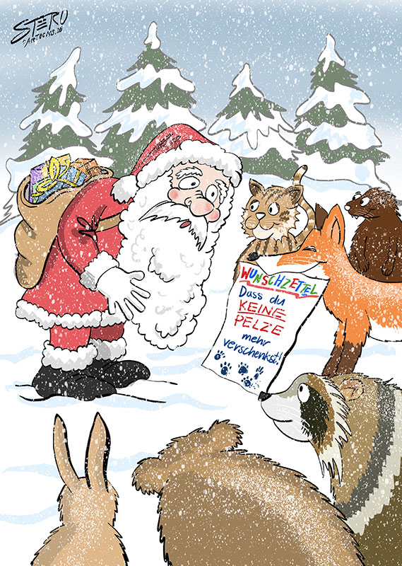 Tiere wünschen sich pelzfreie Weihnacht