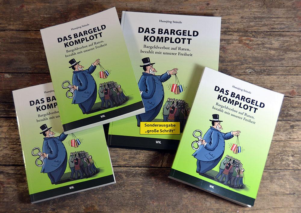 """Foto vom Buch """"Das Bargeldkomplott"""" gestaltet und illustriert von Stefan Roth STERO"""
