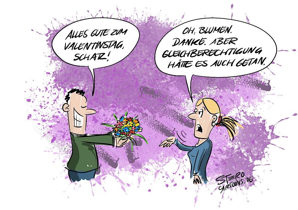 Cartoon ComicValentinstag
