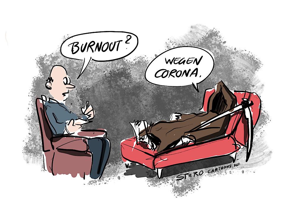 Cartoon-comic-tod-beim-psychiater-wegen-corona