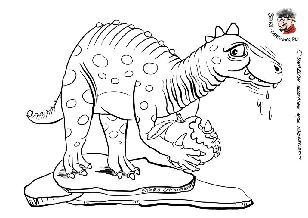 Malvorlage AusmalBild Dinosaurier