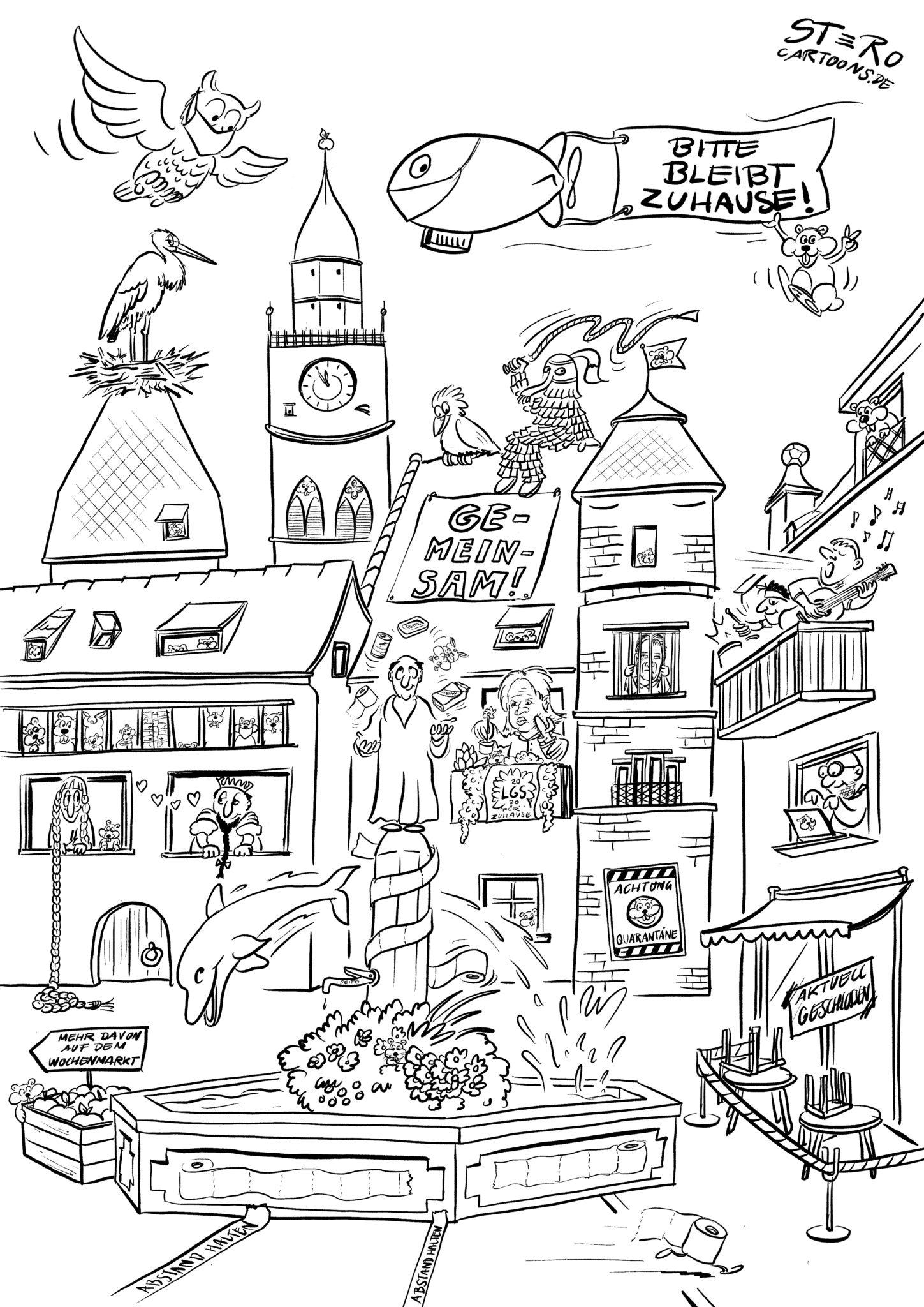 cartoonkarikaturmalvorlage wimmelbild  rothcartoons de
