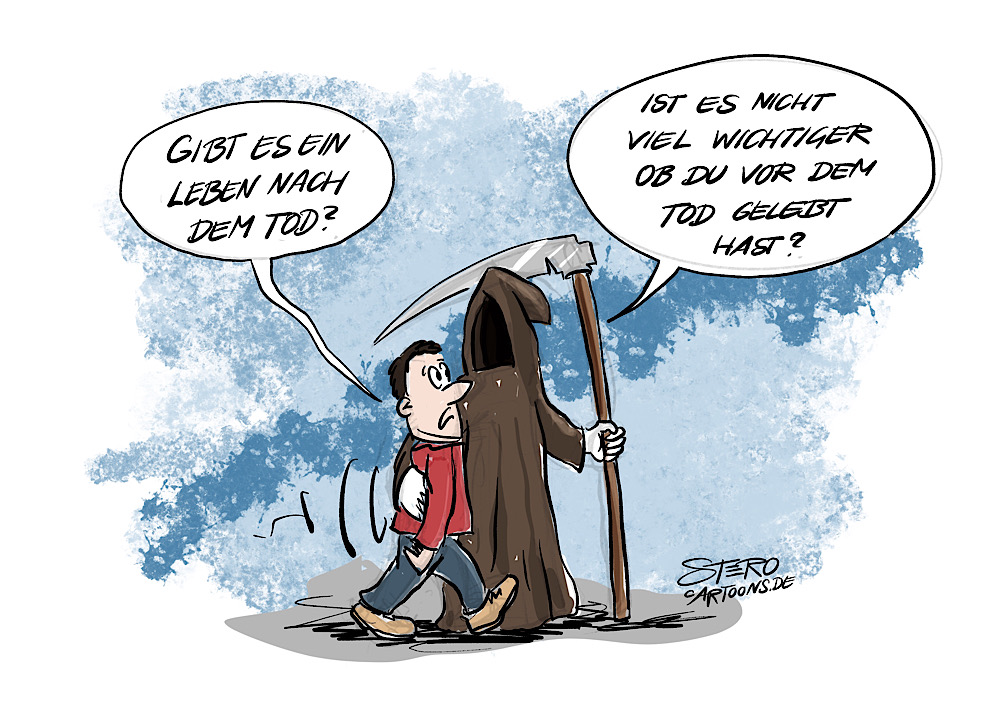 Cartoon-comicLeben nach dem tod